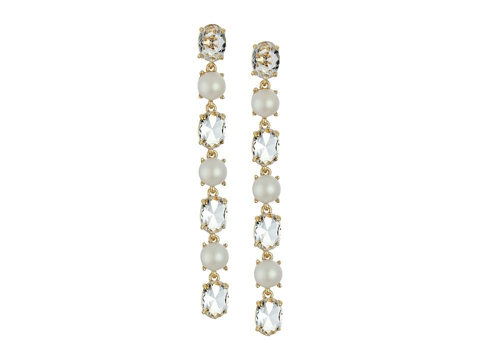 Kate Spade New York - Crystal Arches Linear Earrings (Clear Multi 1) Earring