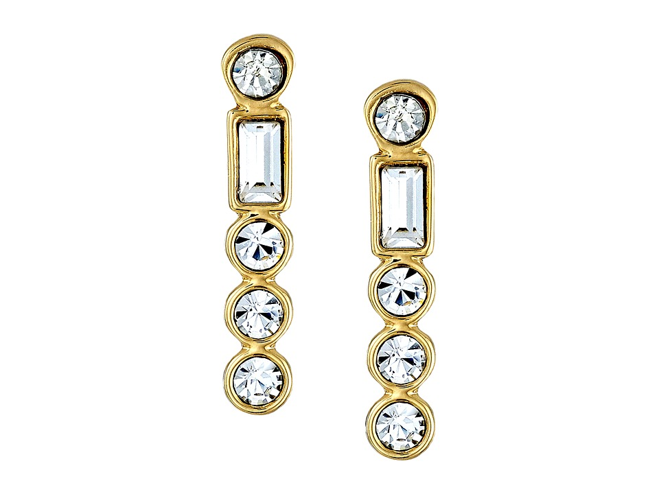 Kate Spade New York - Subtle Sparkle Bar Earrings (Clear 1) Earring