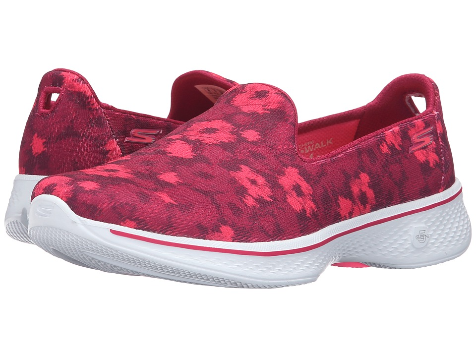 SKECHERS Performance - Go Walk 4 (Pink) Women's Slip on Shoes