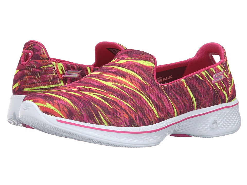 SKECHERS Performance - Go Walk 4 - Electrify (Pink/Multi) Women's Slip on Shoes