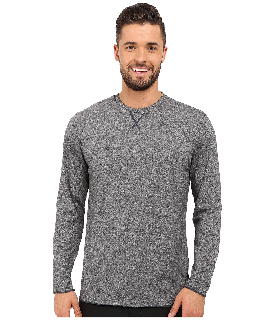 O'Neill - 24-7 Hybrid Long Sleeve Crew (Black) Men's Swimwear