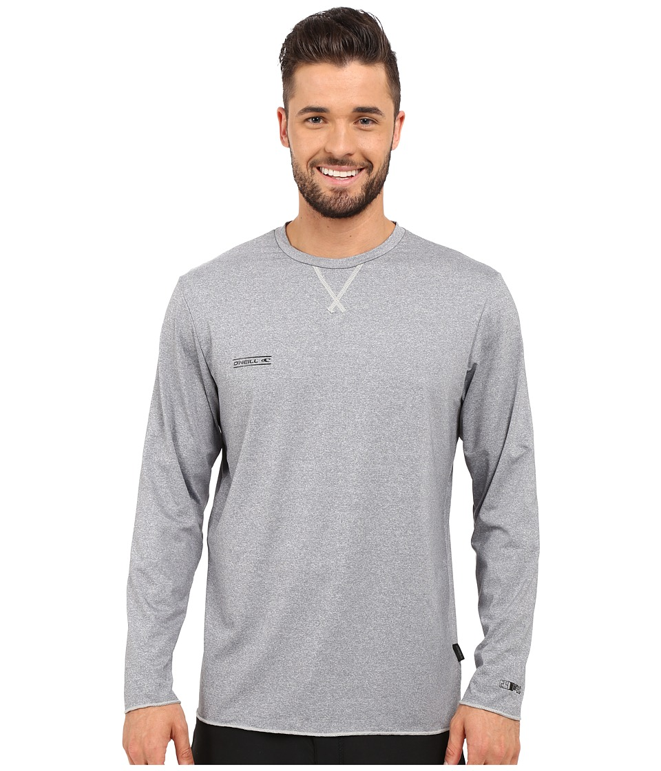 O'Neill - 24-7 Hybrid Long Sleeve Crew (Smoke) Men's Swimwear