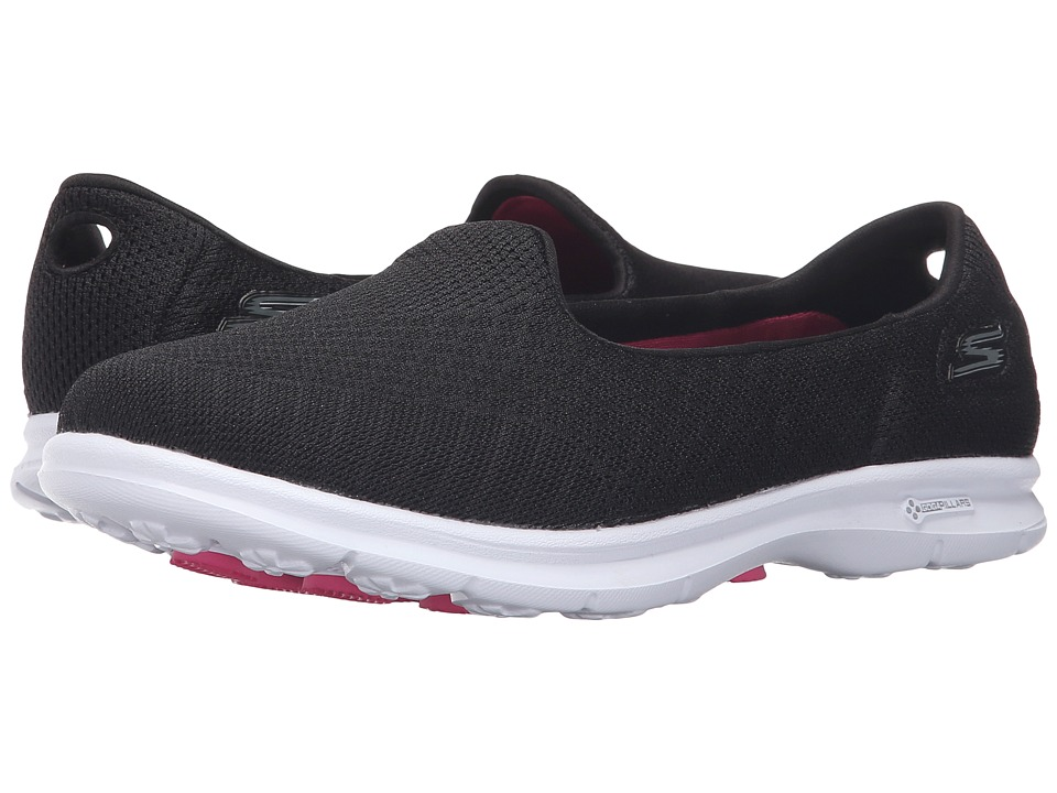 SKECHERS Performance - Go Step - Elated (Black/White) Women's Slip on Shoes