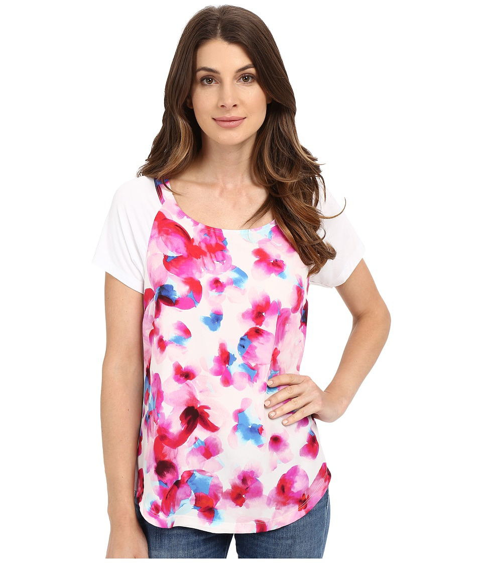 NYDJ - Knit Combo Tee (Marseille Floral Neon Pop) Women's T Shirt