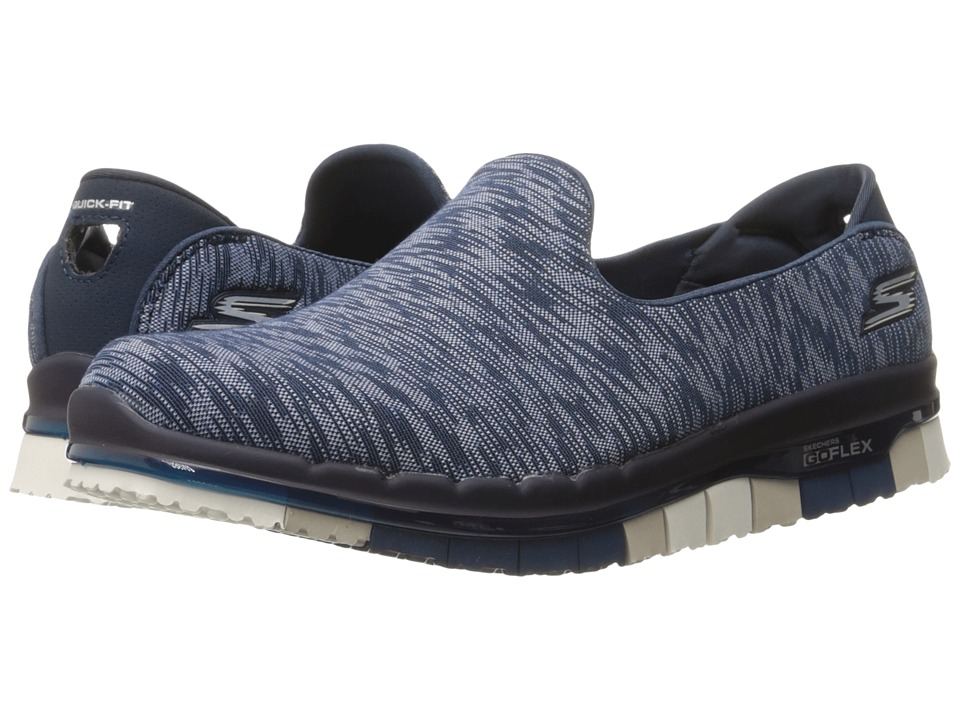 SKECHERS Performance - Go Flex - Reaction (Navy) Women's Slip on Shoes