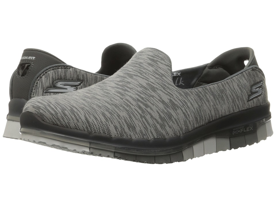 SKECHERS Performance - Go Flex - Reaction (Charcoal) Women's Slip on Shoes