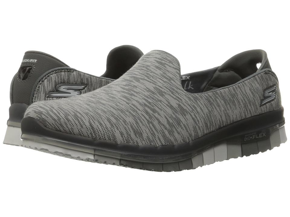 SKECHERS Performance - Go Flex - Reaction (Charcoal) Women's Slip on Shoes