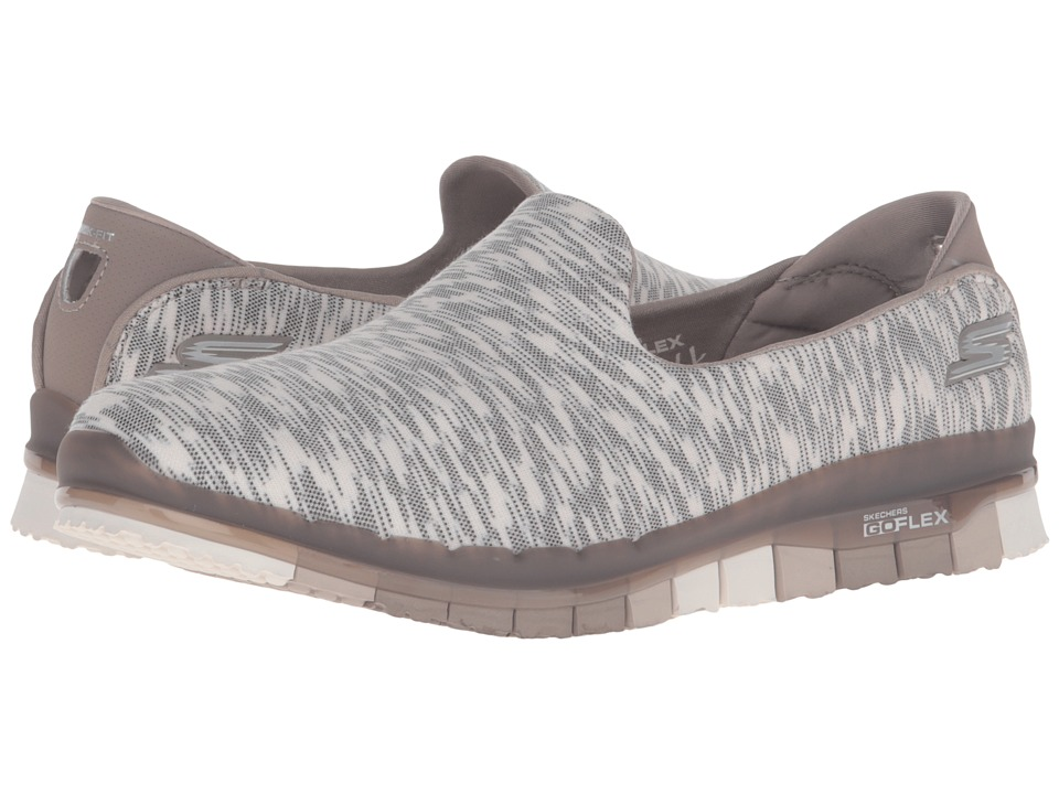 SKECHERS Performance - Go Flex - Reaction (Taupe) Women's Slip on Shoes