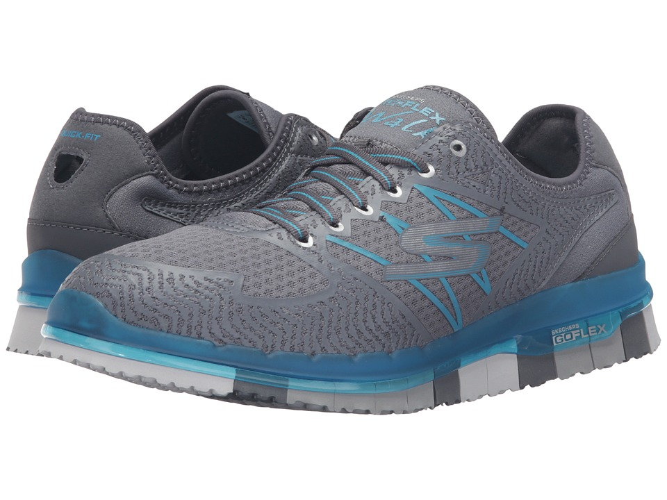 SKECHERS Performance - Go Flex - Momentum (Charcoal/Blue) Women's Lace up casual Shoes