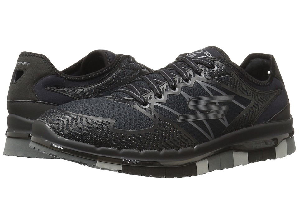 SKECHERS Performance - Go Flex - Momentum (Black/Gray) Women's Lace up casual Shoes