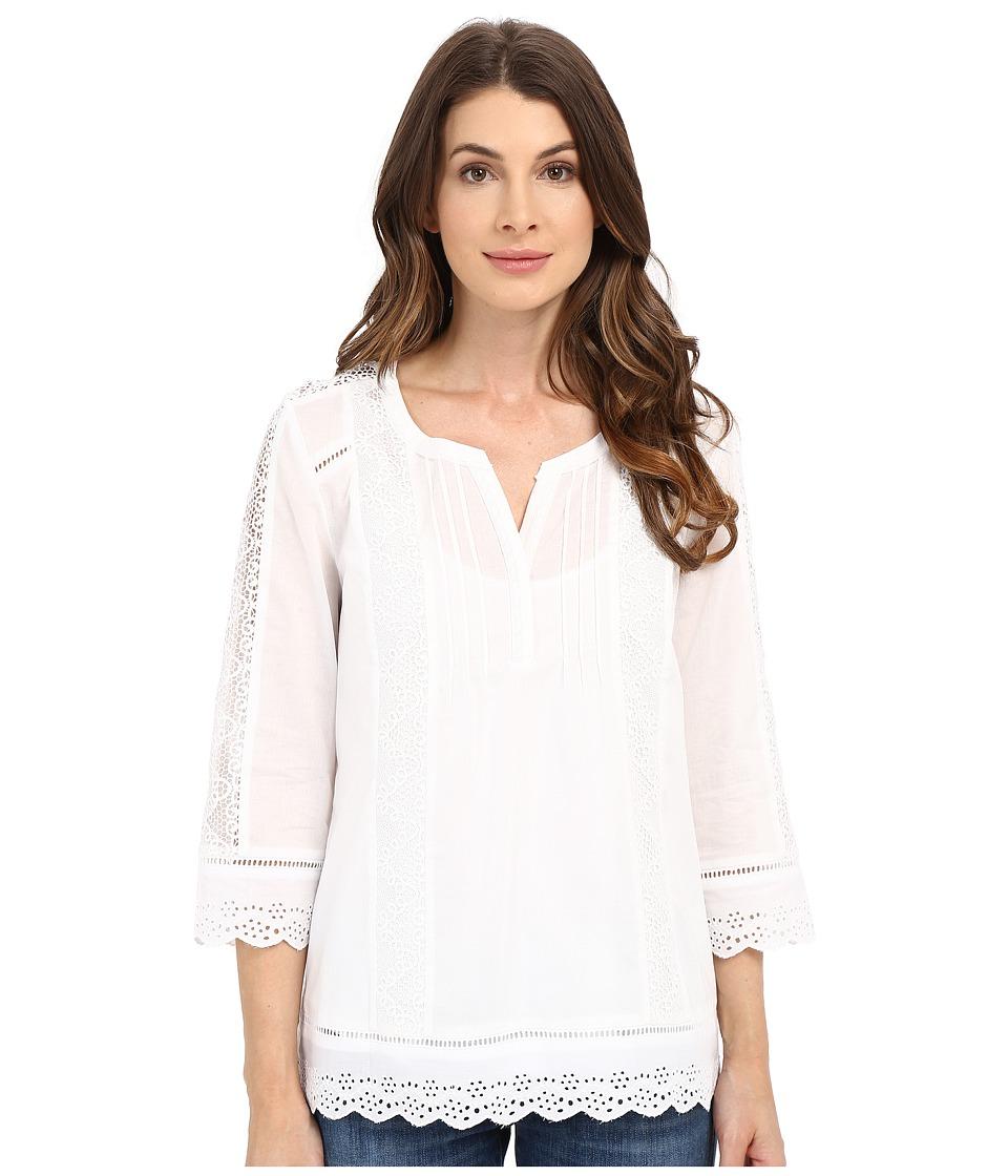 NYDJ - Lace Blouse (Optic White) Women's Blouse