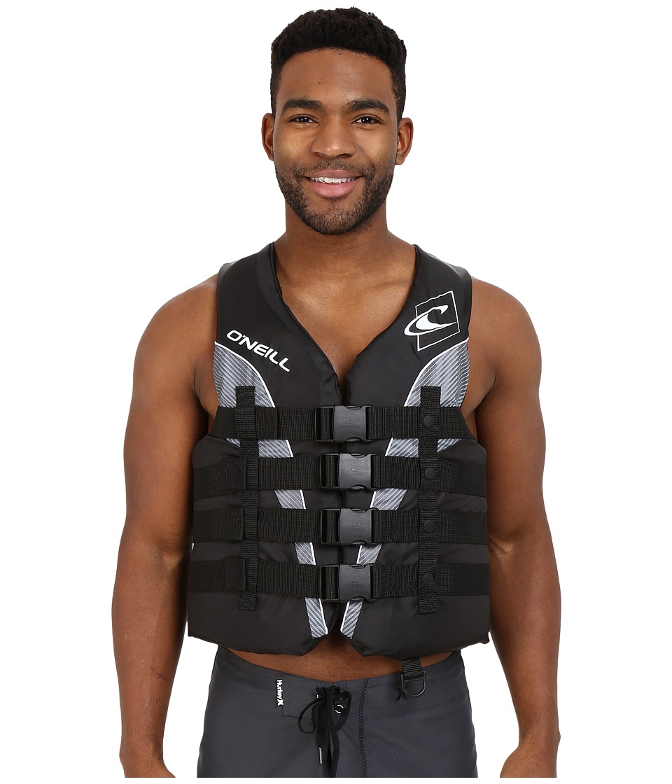 O'Neill - Superlite USCG Vest (Black/Black/Smoke/White) Men's Swimwear
