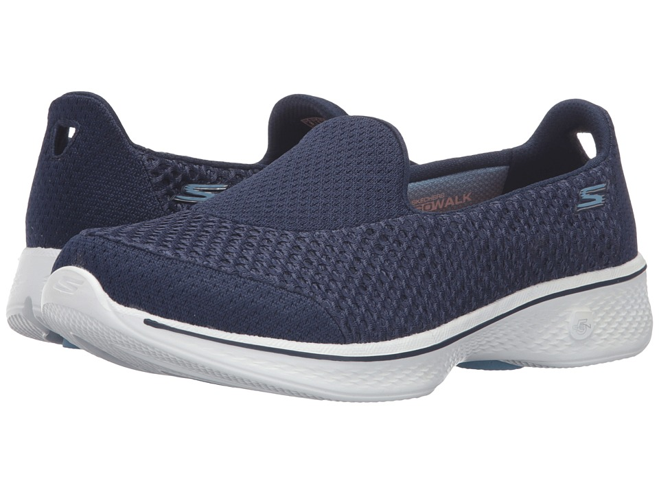SKECHERS Performance - Go Walk 4 - Kindle (Navy/White) Women's Slip on Shoes