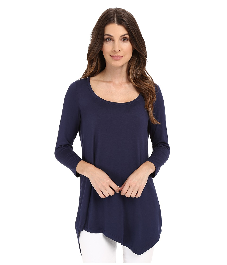 NYDJ - City/Sport Leah Basic 3/4 Sleeve Tee (Champion Navy) Women