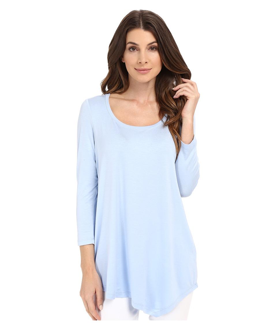 NYDJ - City/Sport Leah Basic 3/4 Sleeve Tee (Infinity Blue) Women's T Shirt