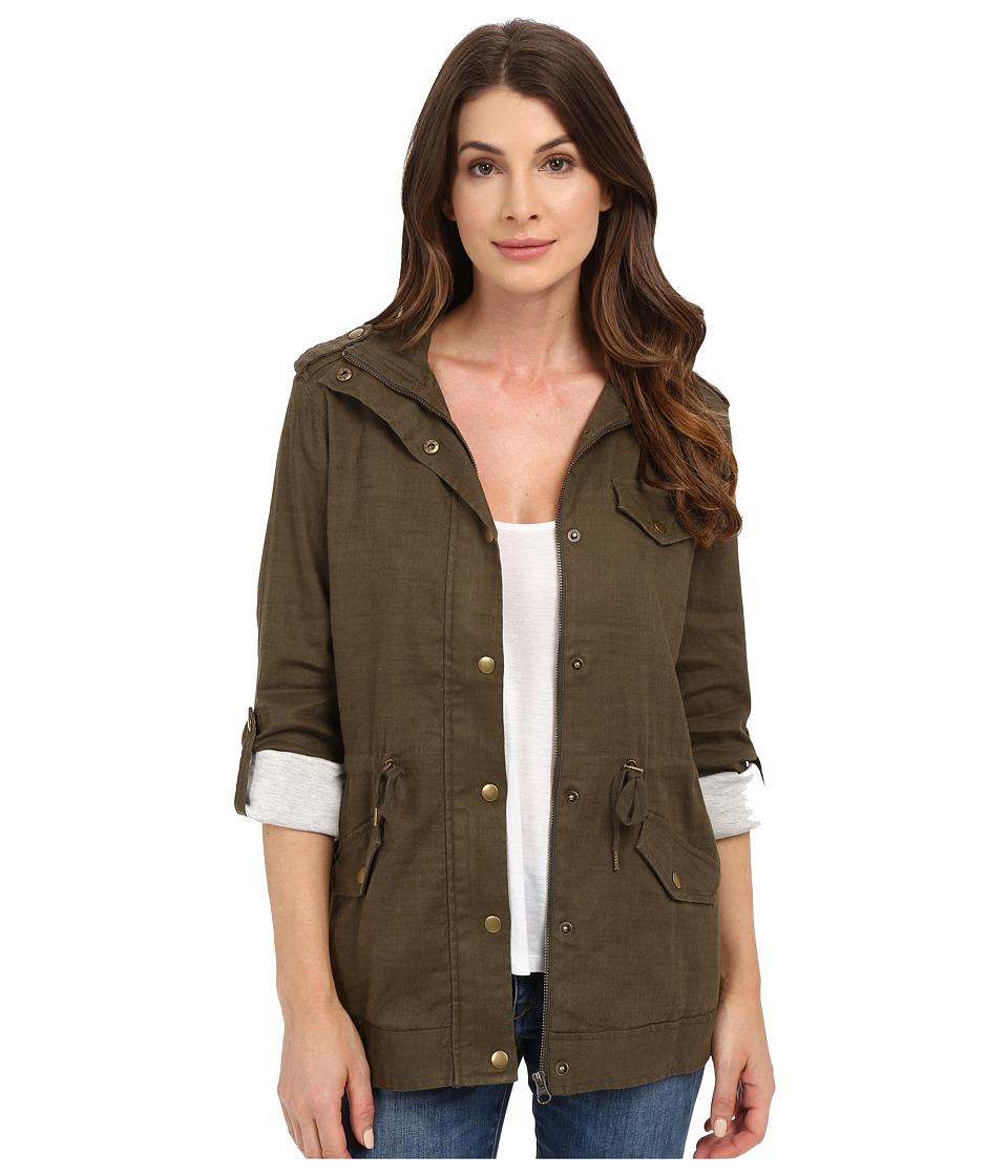 NYDJ - Linen Utility Jacket (Fatigue) Women's Coat