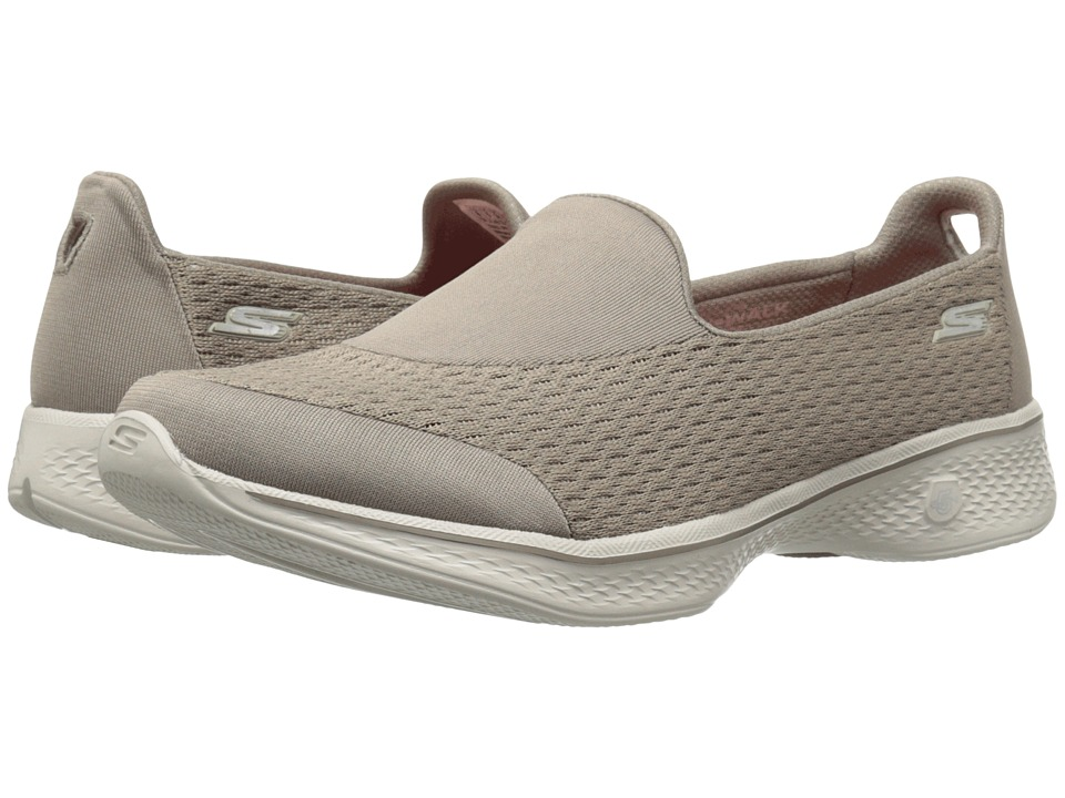 SKECHERS Performance - Go Walk 4 - Pursuit (Taupe) Women's Slip on Shoes