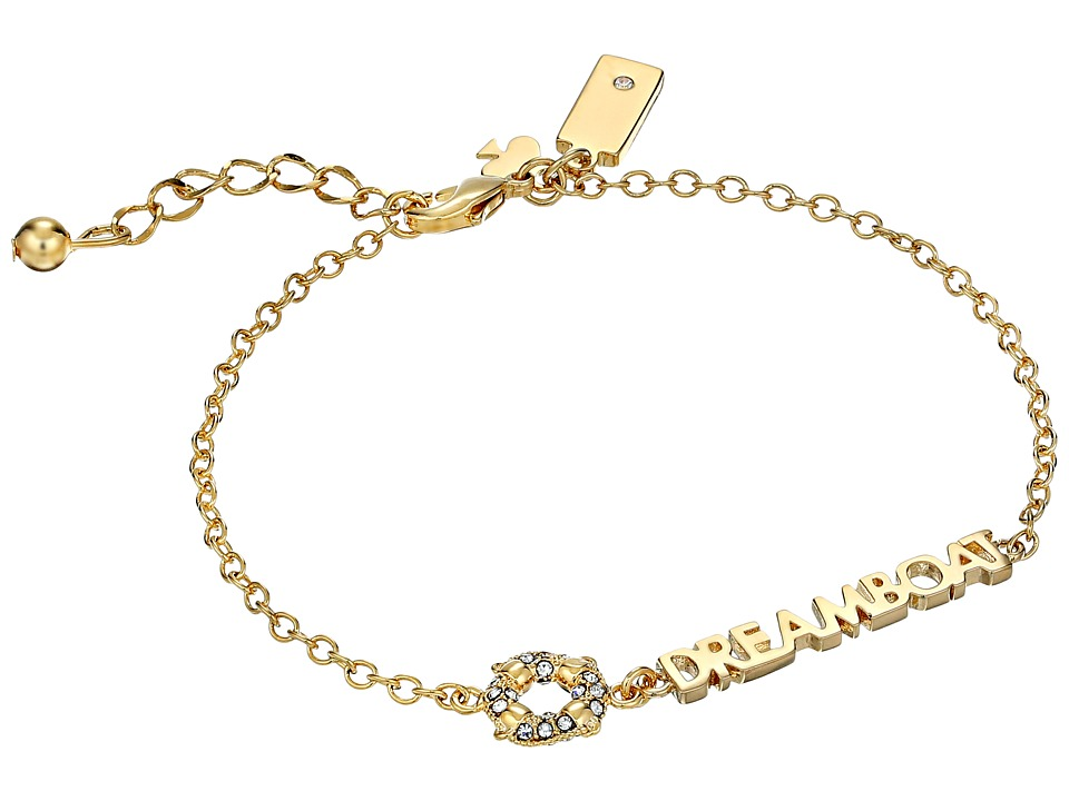 Kate Spade New York - Kiss A Prince Dreamboat Bracelet (Clear/Gold) Bracelet