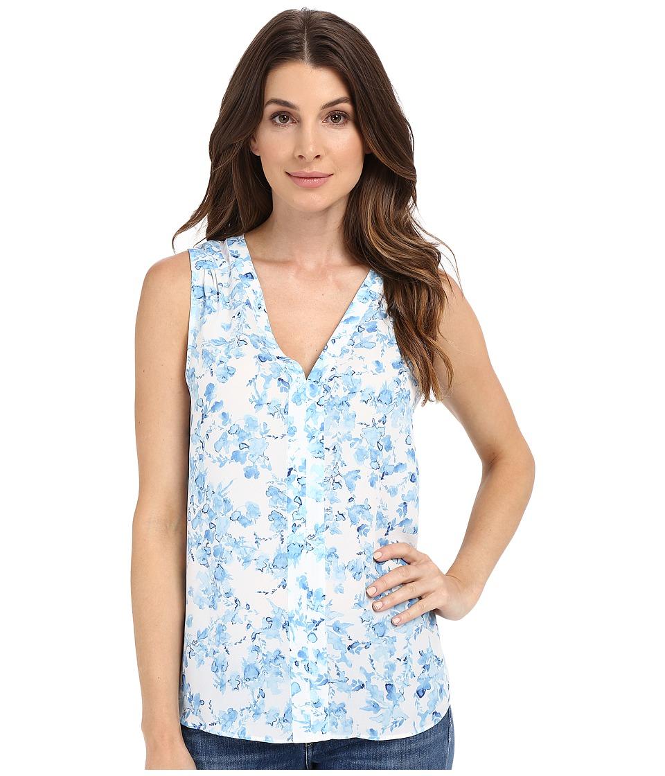 NYDJ - Sleeveless Top (Blue Waves Garden Blue) Women's Sleeveless