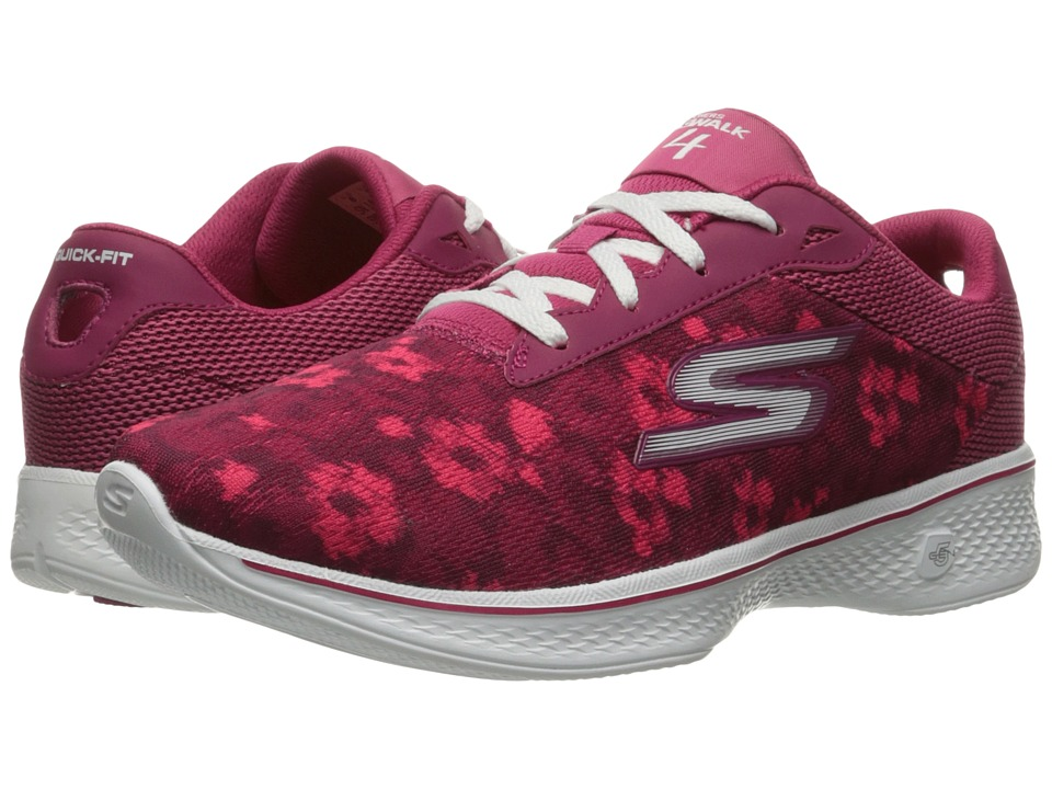 SKECHERS Performance - Go Walk 4 - Excite (Pink) Women's Lace up casual Shoes