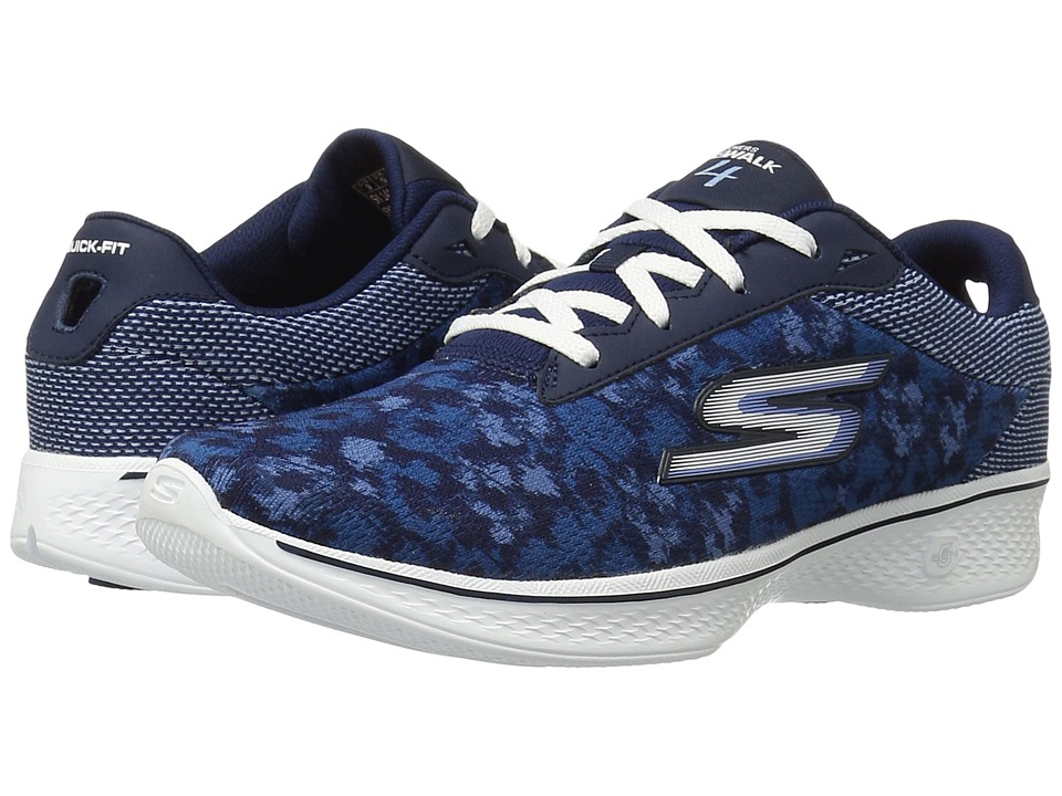 SKECHERS Performance - Go Walk 4 - Excite (Navy) Women's Lace up casual Shoes