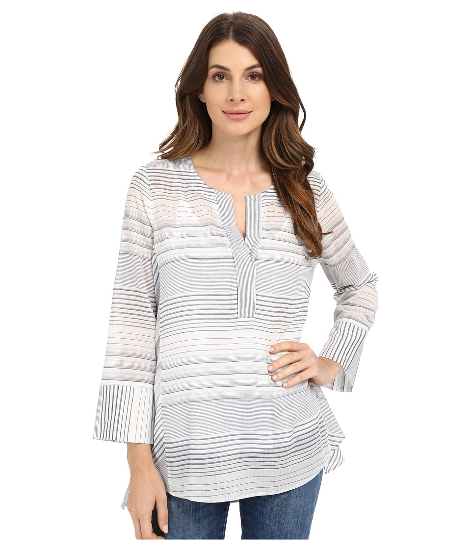 NYDJ - Stripe Tunic (Champion Navy) Women's Blouse