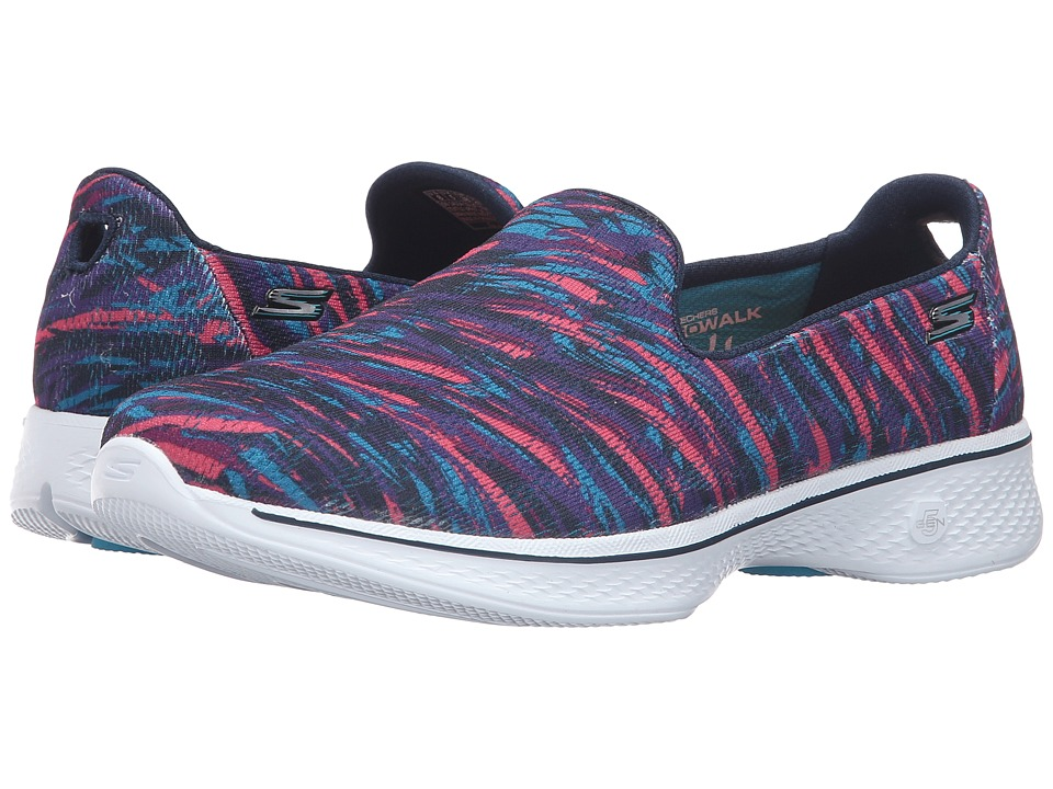SKECHERS Performance - Go Walk 4 - Electrify (Navy/Multi) Women's Slip on Shoes