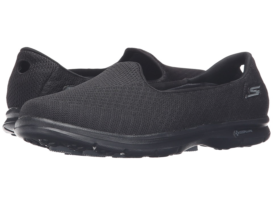 SKECHERS Performance - Go Step - Elated (Black) Women's Slip on Shoes