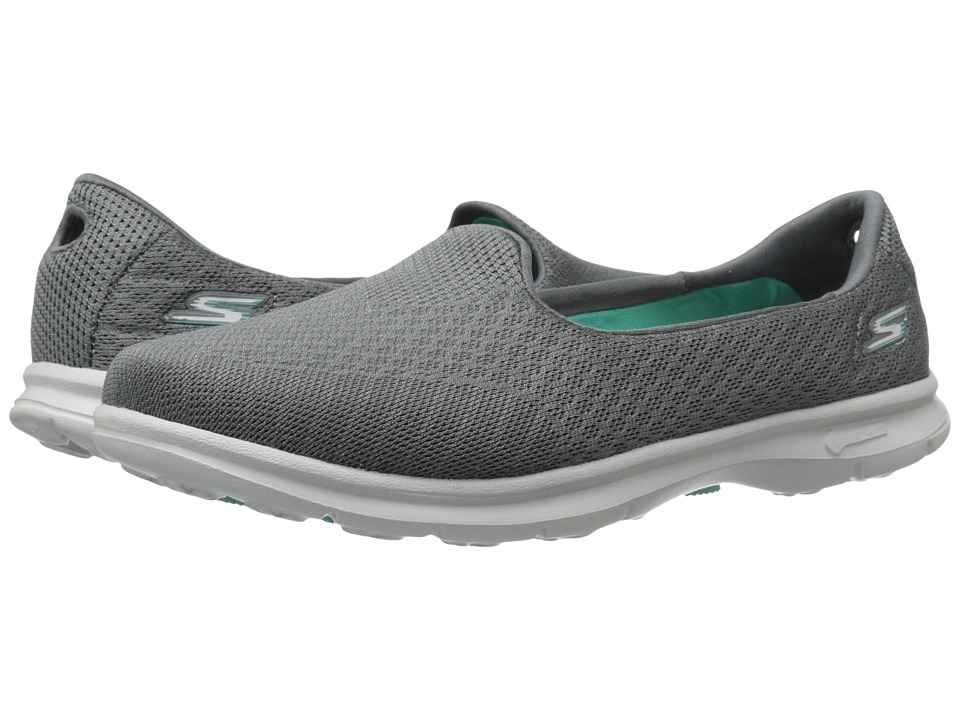 SKECHERS Performance - Go Step - Elated (Charcoal) Women's Slip on Shoes