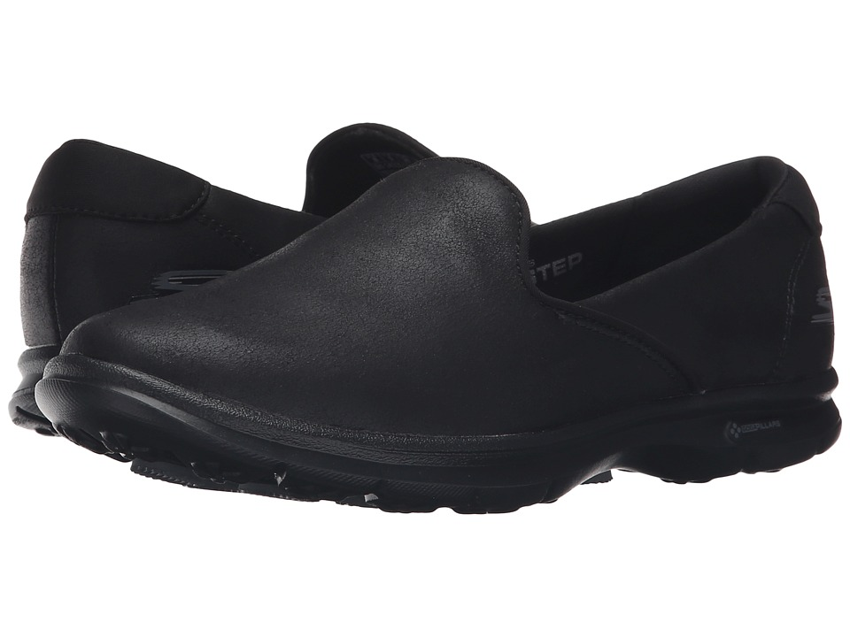 SKECHERS Performance - Go Step - Untouched (Black) Women's Slip on Shoes
