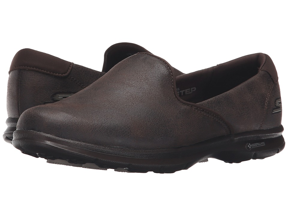 SKECHERS Performance - Go Step - Untouched (Chocolate) Women's Slip on Shoes