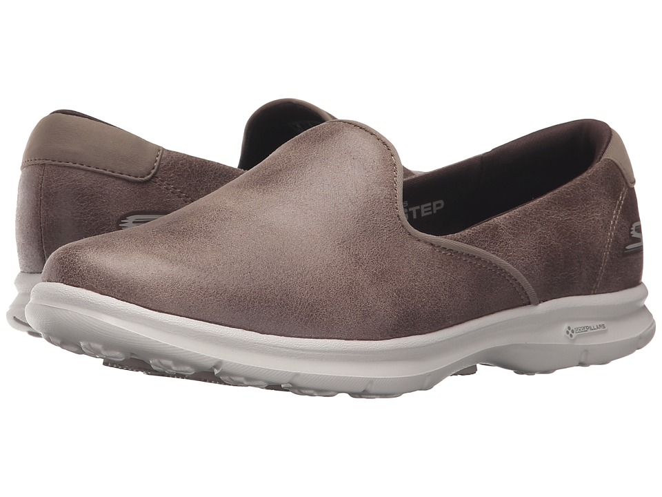 SKECHERS Performance - Go Step - Untouched (Taupe) Women's Slip on Shoes