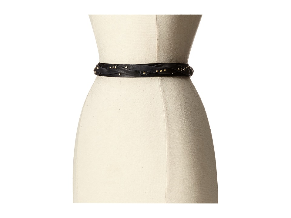 ADA Collection - Skinny Wrap Belt with Rivets (Black) Women's Belts