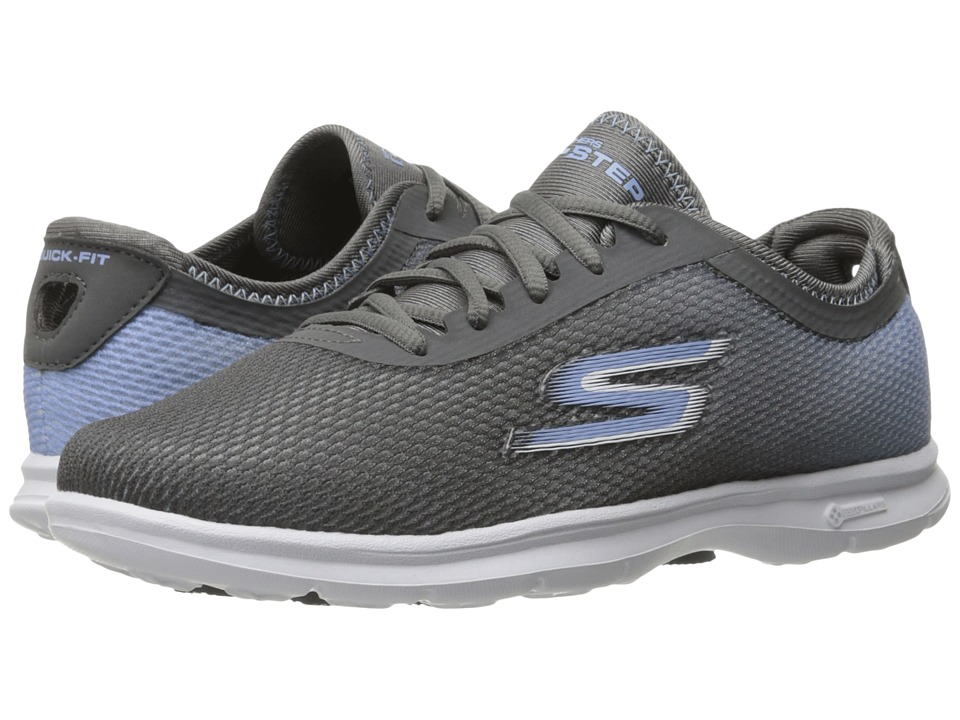 SKECHERS Performance - Go Step - Cosmic (Charcoal/Blue) Women's Lace up casual Shoes