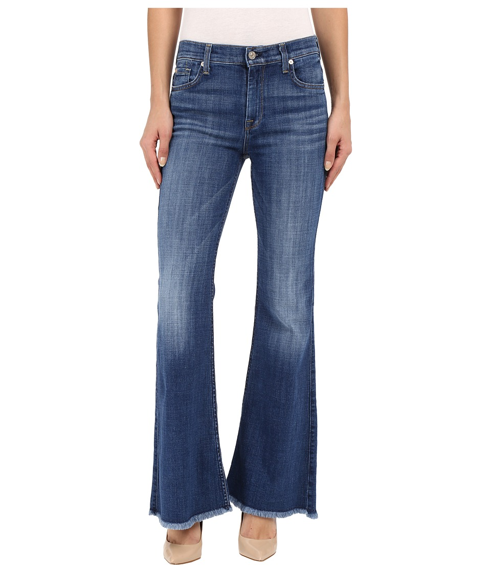 7 For All Mankind - Ginger with Raw Hem in Athens Broken Twill (Athens Broken Twill) Women's Jeans