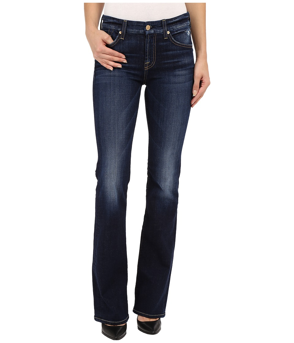 7 For All Mankind - Kimmie Bootcut with Distress in Mykonos Dark Indigo (Mykonos Dark Indigo) Women