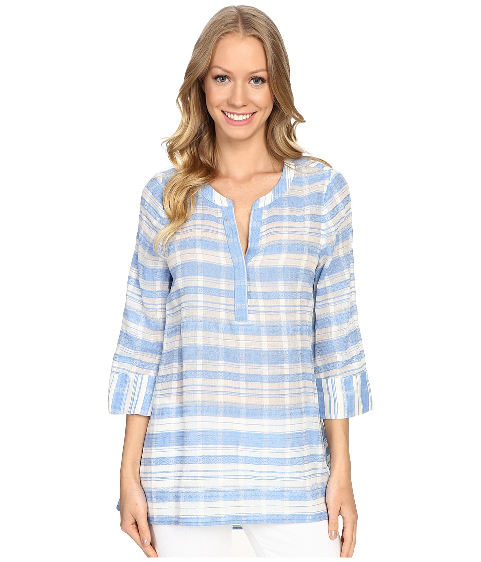 NYDJ - Easy Tunic Top (Ceramic Blue) Women's Blouse