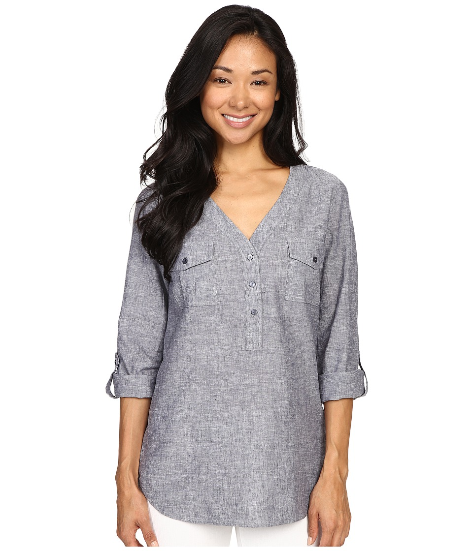 NYDJ - Linen Pop-Over (Indigo) Women's Clothing