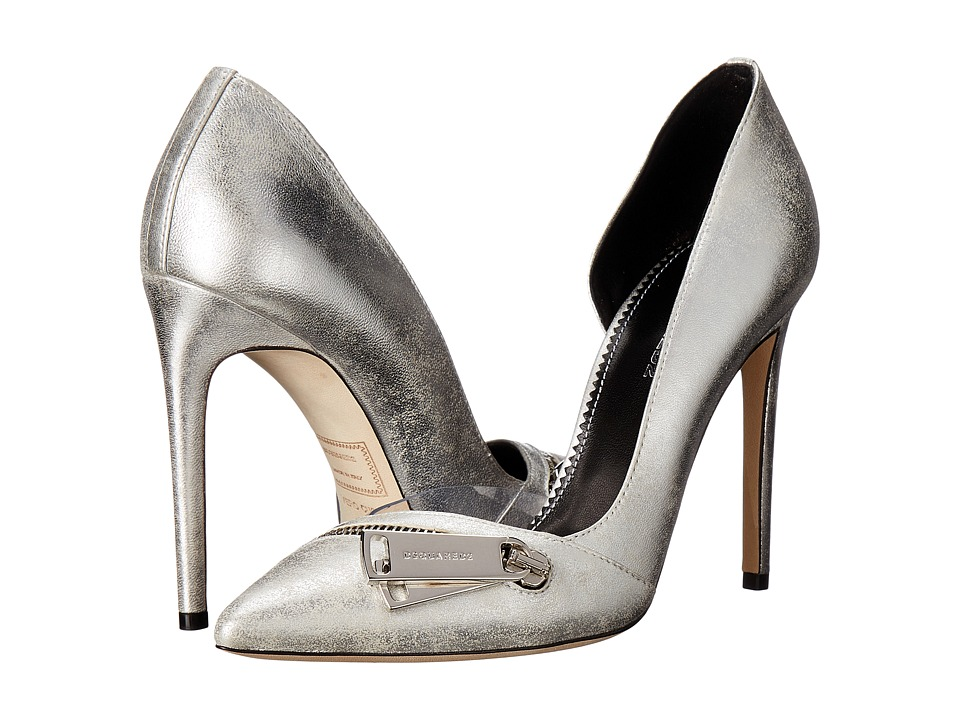 DSQUARED2 - Zipper Pump (Silver) Women's Shoes