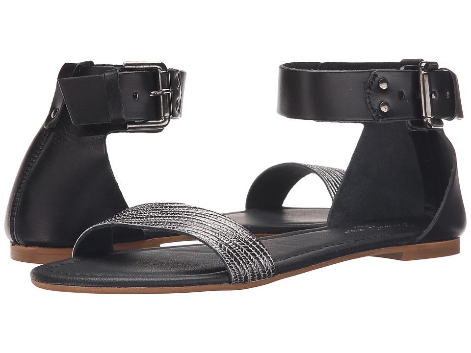 Massimo Matteo - Flat Ankle Strap (Nero) Women's Sandals