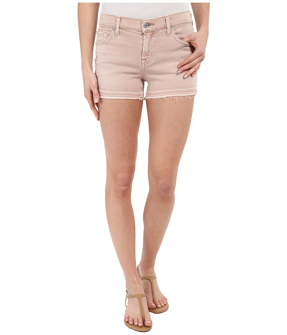 7 For All Mankind - Released Hem Shorts in Pink (Pink) Women's Shorts