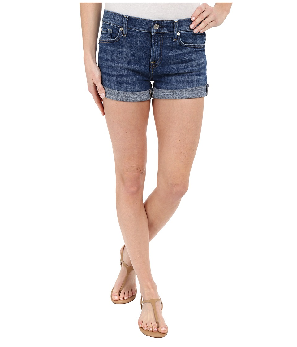 7 For All Mankind - Roll Up Shorts in Athens Broken Twill (Athens Broken Twill) Women's Shorts