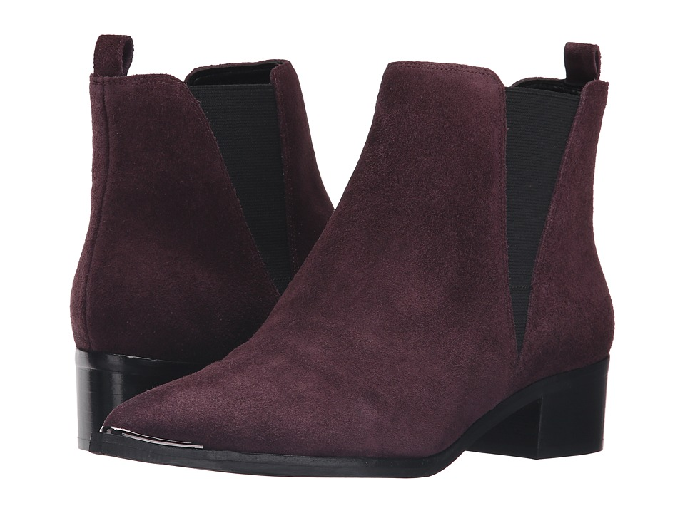 Marc Fisher LTD - Yale (Berry Suede) Women's Dress Pull-on Boots