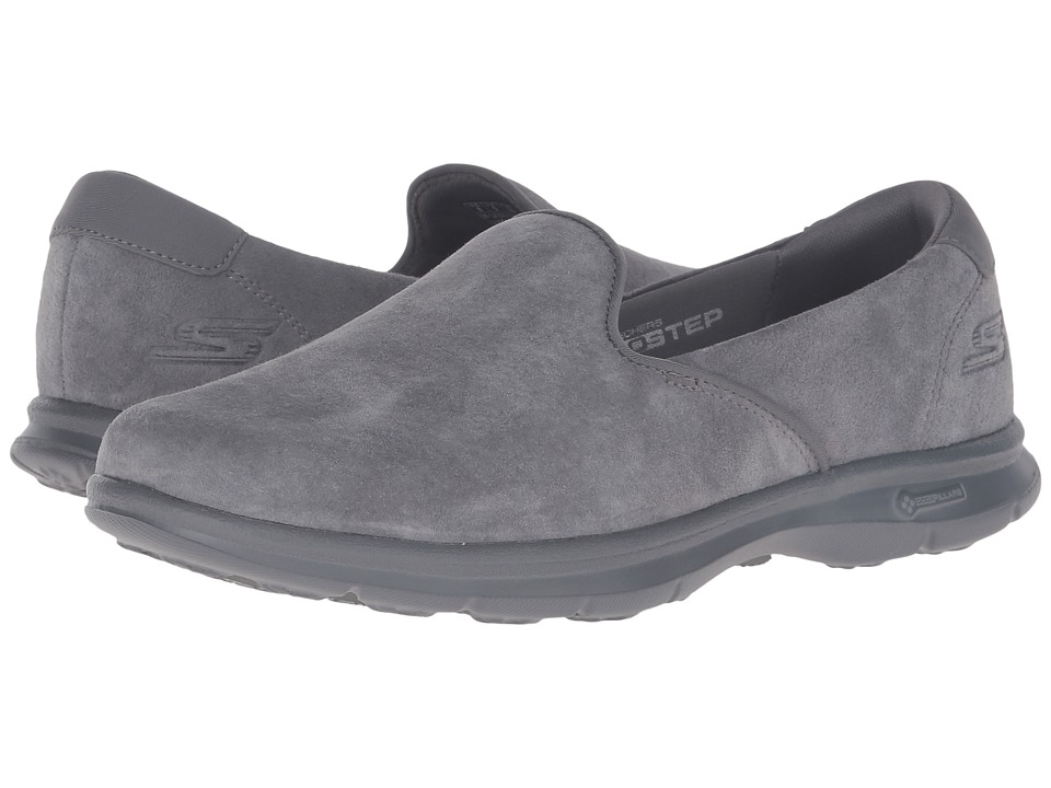 SKECHERS Performance - Go Step - Cheery (Charcoal) Women's Slip on Shoes