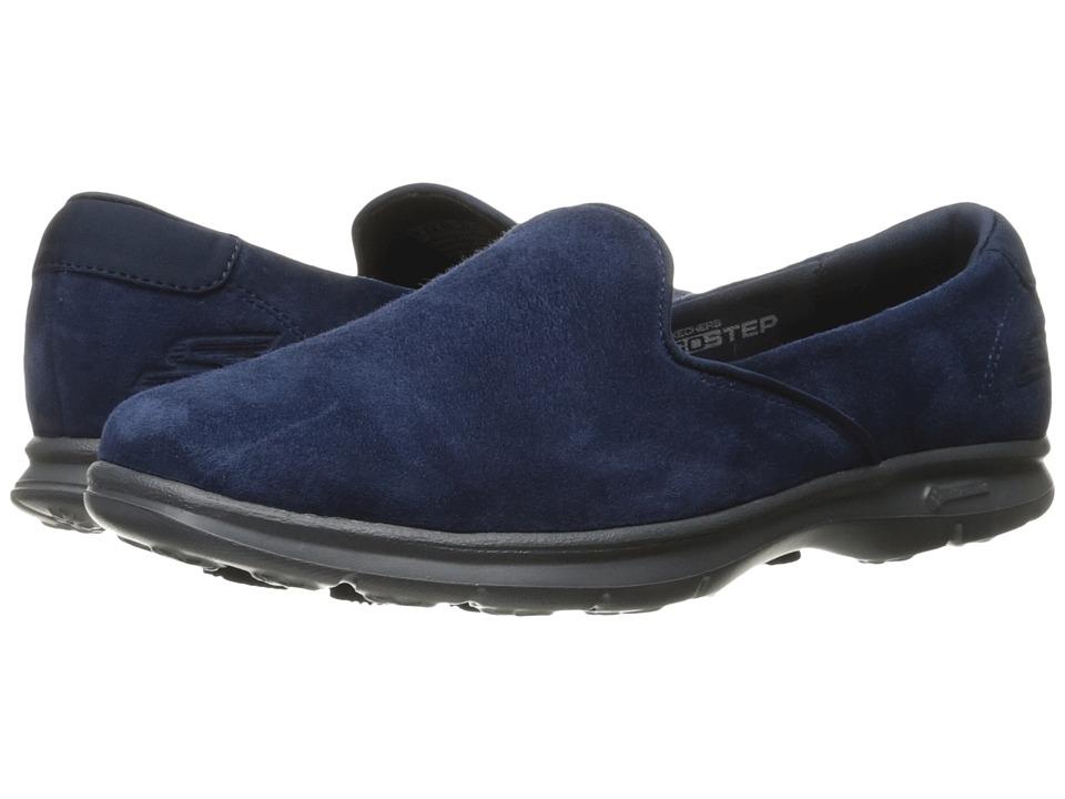 SKECHERS Performance - Go Step - Cheery (Navy/Gray) Women's Slip on Shoes