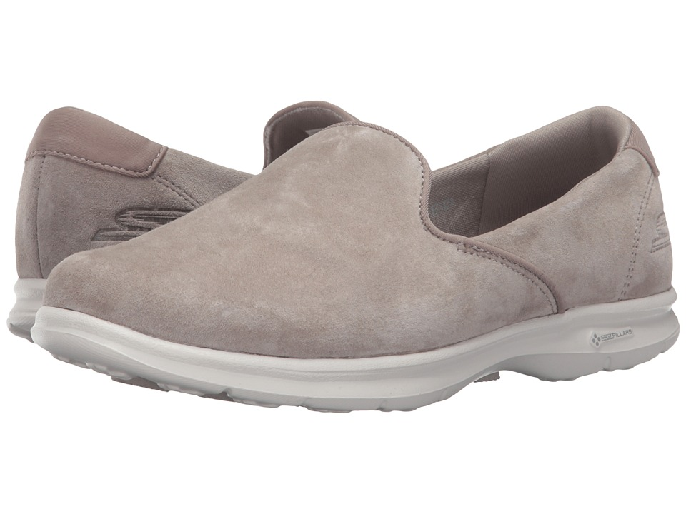 SKECHERS Performance - Go Step - Cheery (Taupe) Women's Slip on Shoes