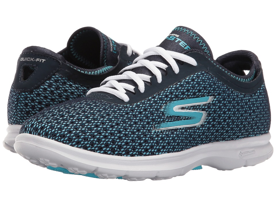 SKECHERS Performance - Go Step - Intensity (Navy/Light Blue) Women's Lace up casual Shoes