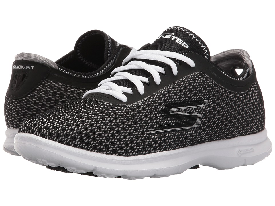 SKECHERS Performance - Go Step - Intensity (Black/White) Women's Lace up casual Shoes