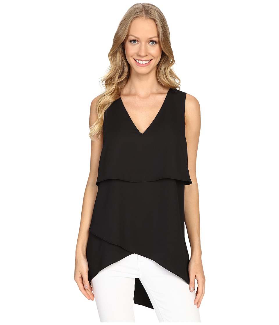 NYDJ - Silky Drape Top (Black) Women's Clothing
