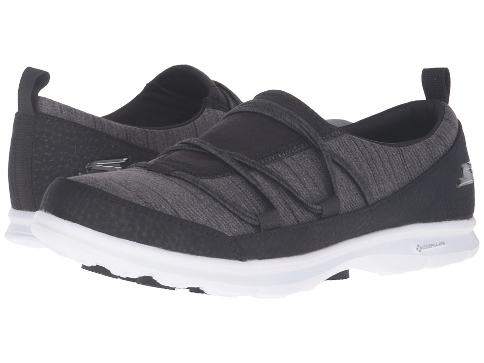 SKECHERS Performance Go Step Sway (Black/White) Women